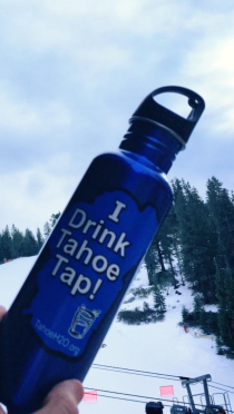 We giveaway reusable water bottles at outreach events in order to spread the word about the best water in the world!