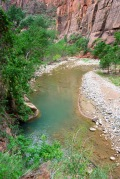 The lower Zion Narrows - ADA access trail