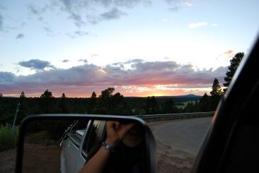 Biking and driving in Northern Arizona