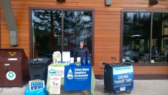 Environmental and Water Education and Agency Outreach Tabling at Diamond Peak Ski Resort over the holidays. Drink Tahoe Tap!