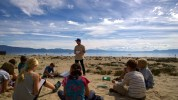Teaching Sustainability Lessons to the Tahoe Expedition Academy Students in Tahoe Vista, CA.