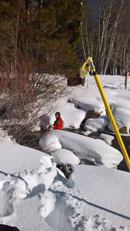 Water Quality Samples in the Snow